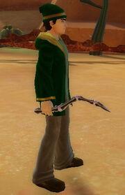 Wizard's Bone Wand of Vortex held