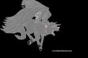 Free Running Wing Wolf Lineart by Wolfieluv6