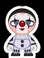 Clown white face