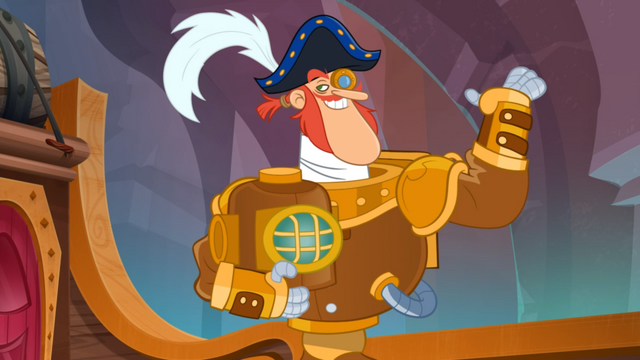 File:Fresh Beat Band of Spies Captain Arrrgh Diving.png