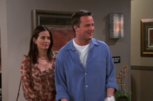 Chandler and Monica at the Fertility Clinic
