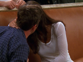Monica Kisses Chandler (8x02)
