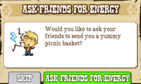 Ask Friends for Energy