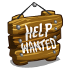 Need Help Wanted Sign-icon