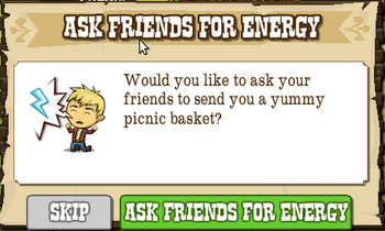 Ask Friends For Picnic Basket