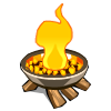 Raised Campfire-icon