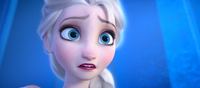 Elsa remembering the past