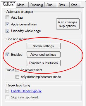 Fichier:AWB - Rechercher et remplacer un mot.png