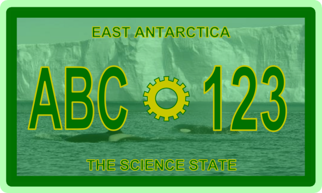 File:East Antarctica License Plate.png