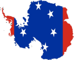 Flag-map of Antarctica