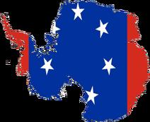 Flag-map of Antarctica