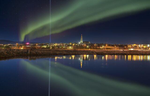 File:ICELAND-Reykjavik Northern Lights.jpg