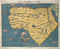 Antique map bunting africa1