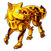 1774-gold-mechanical-wolf