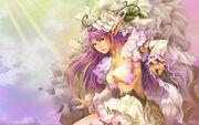 Dress flowers cgi long hair purple hair elves artwork long ears 1920x1200 wallpaper www.wallpaperfo.com 72