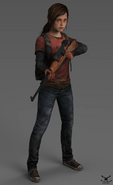 The last of us ellie with rifle by zaza boom-d8ge3ar