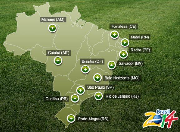 Sedes mundial de futbol brasil 2014