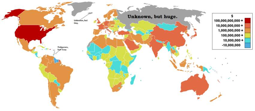 Military expenditure by country map