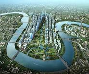 720 Perkins Eastman Tianjin day aerial