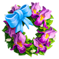 Bearded Iris Wreath