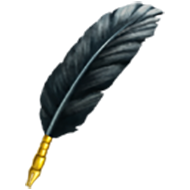 Black Feather Quill
