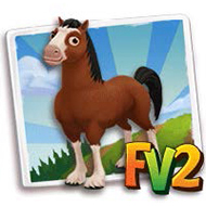 Clydesdale Horse (Alt Code)