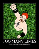 Too many limes poster