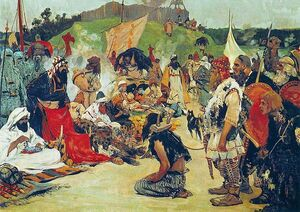 S. V. Ivanov. Trade negotiations in the country of Eastern Slavs. Pictures of Russian history. (1909)