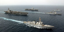 USS Ronald Reagan and the French Navy