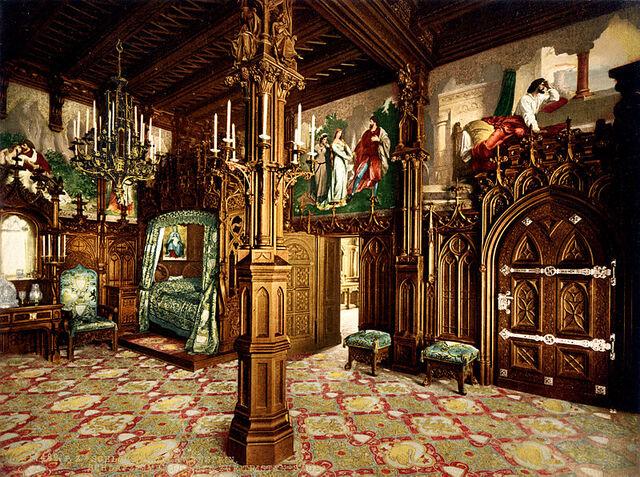 File:Bedroom 19th century photochrom.jpg