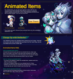 Animted items faq