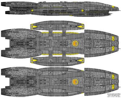Battlestar Athena (Columbia Class Battlestar)