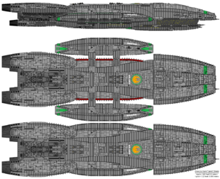 Battlestar Solaria - Columbia Class