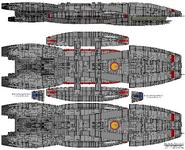 BS Galactica Galactica Type Block 1 Jupiter Class