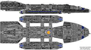 Ares Class Battlestar - Battlestar Prometheus