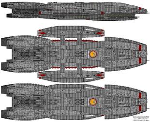 Battlestar Pegasus - Columbia Class