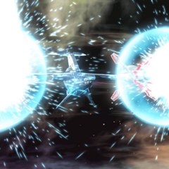 The Dual Chrono Break cannons are fired
