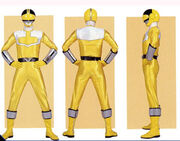 Yellow Time Force Ranger Form