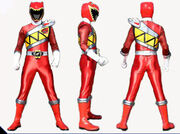 Red Dino Charge Ranger Form