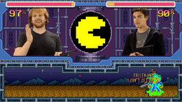 The Last of Us vs. Pac-Man screen