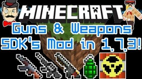 Minecraft Mods - GUNS & WEAPONS Mod for 1.7.3! AK47s, Lasers, Shotguns, Rockets & More by SDK!