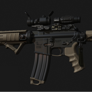 The side view of the confirmed M4A1