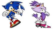 Sonic and Blaze