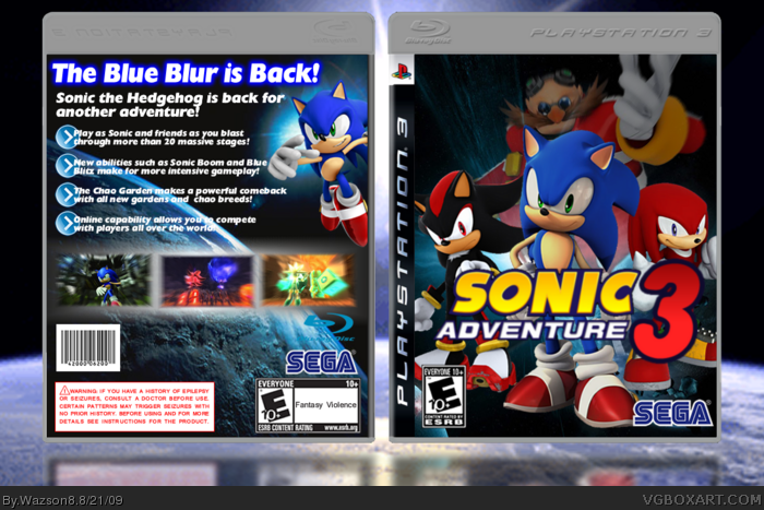 Group of Sonic Adventure 3