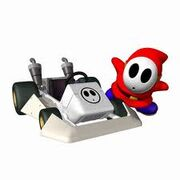 Shy Guy with kart