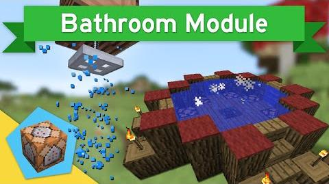 SHOWERS & HOT TUBS in Vanilla Minecraft 1.9 Bathroom Module