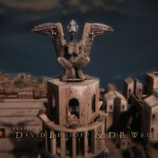 Гарпія, символ Астапора, у відкриваючій сцені.