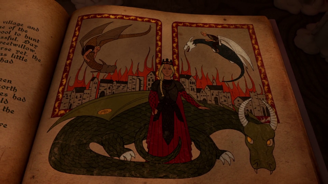 File:HL5 Two Betrayers and Rhaenyra manuscript art.png