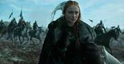 Sansa arrives at battle