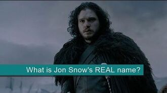 What is Jon Snow's real name?